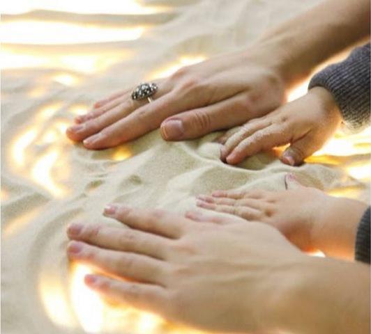 рисование-песком-дома