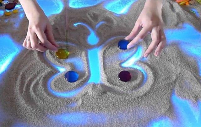 рисование-песком-бабочка