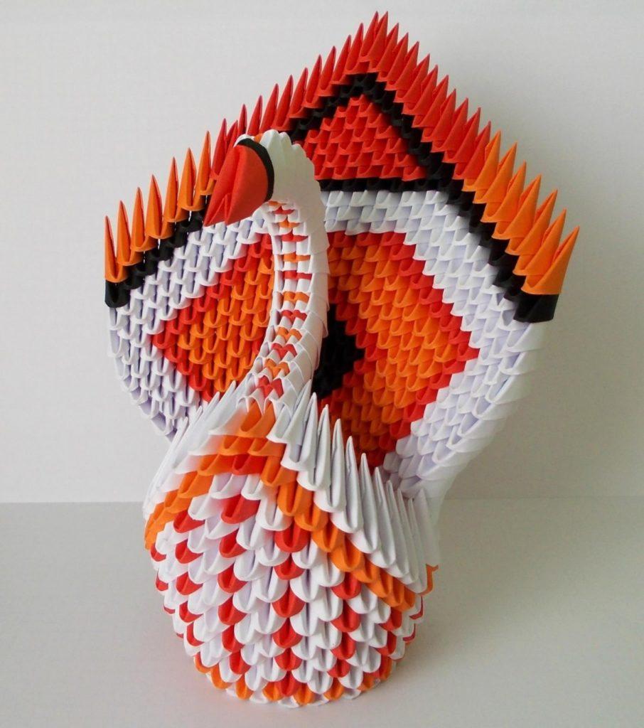 оригами-лебедь