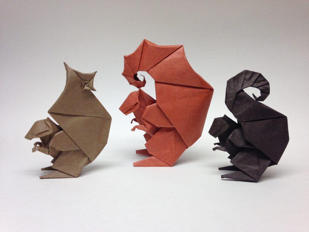 оригами-белочка