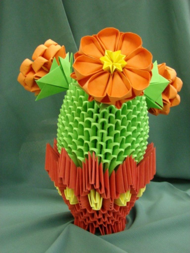 оригами-кактус