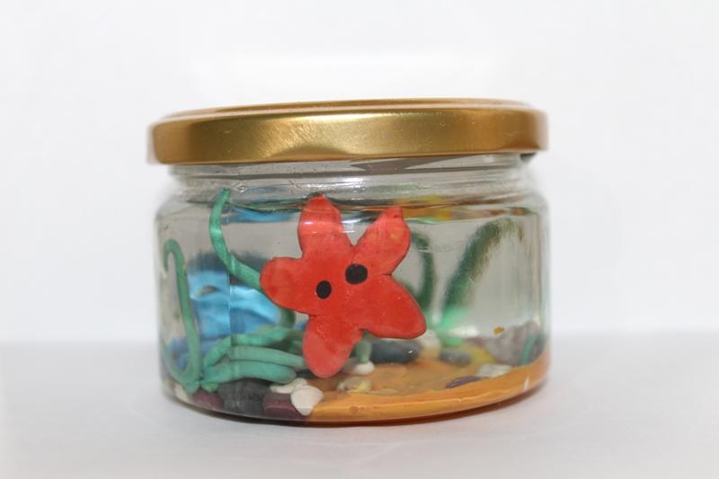 пластилин-поделка-аквариум-звезда