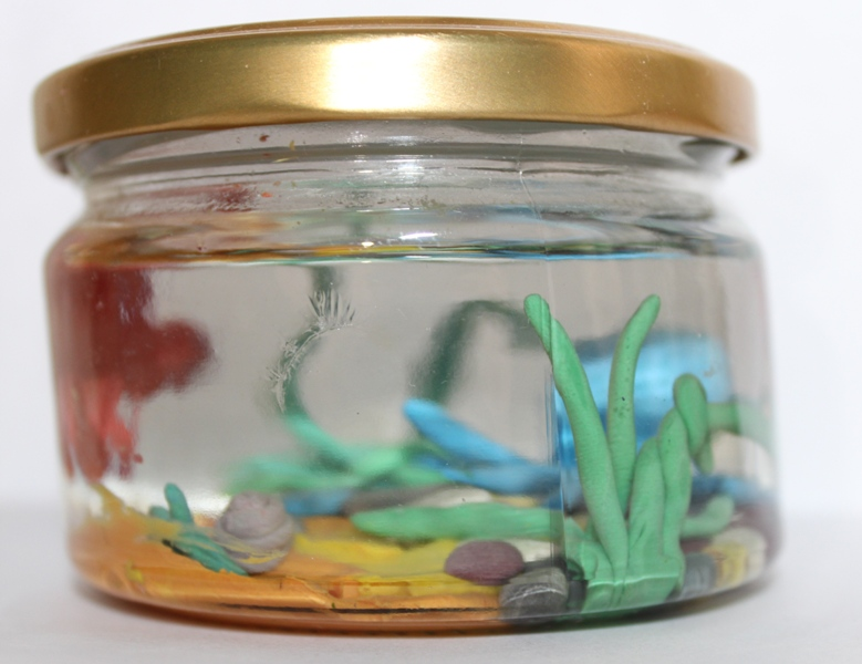 трава-аквариум-пластилин